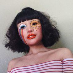 makeup ideas eye makeup ideas halloween makeup ideas ideas for of july clown makeup ideas ideas ideas year makeup ideas Clown Makeup, Cute Makeup, Pretty Makeup, Halloween Makeup, Hair Makeup, Pretty Halloween, Skull Makeup, Sfx Makeup, Costume Makeup