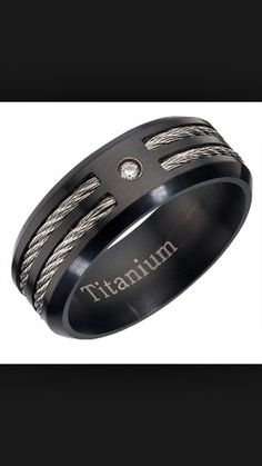 Anium And Diamond Men S Ring H Samuel The Jeweller This Offers An Edgy Alternative