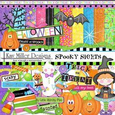 Spooky Sights Page Kit