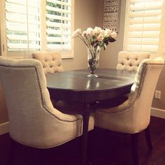 La Vie Est Belle Design mixes current pieces with new #ZGallerie Marseilles Dining Chairs for a fresh new look!