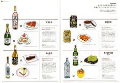 "The magazine ""YEBISU STYLE"" is featuring "" marriage of liquors and sweets  ""."