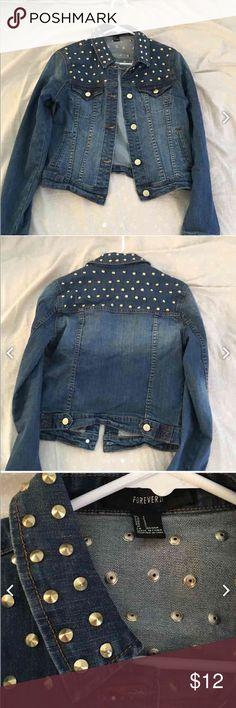 Forever 21 studded denim jacket Brand new never worn Forever 21 Jackets & Coats Jean Jackets
