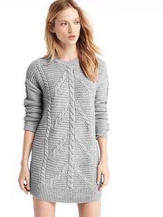 GAP Plait cable knit sweater dress