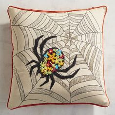 Sometimes cobwebs and spiders are actually a welcome sight in your home. For instance, when they adorn a festive Halloween pillow complete with plump poly fiberfill for long-lasting shape and support. And especially when the price is itsy-bitsy like this.