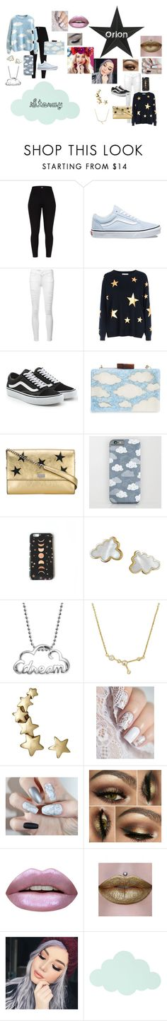 """""""My heads in the clouds but my eyes hold the stars"""" by thequestionanablewhy ❤ liked on Polyvore featuring Vans, Frame, Red Herring, Natasha, STELLA McCARTNEY, Nikki Strange, Tessa Packard, Alex Woo, Huda Beauty and ferm LIVING"""