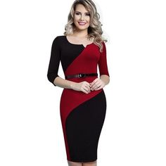 1a556fa98d Women s Casual Elegant Work  Business Office Belted Dress Casual Dresses  For Women