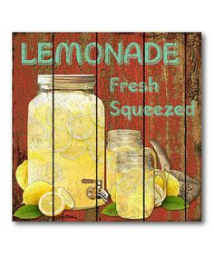 $29.99Take a look at this 'Lemonade' Canvas Wall Art by COURTSIDE MARKET on #zulily today!