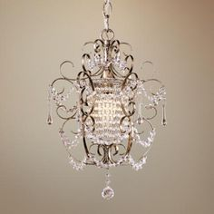 "Minka Lavery French Silver 11"" Wide Mini Chandelier Style # 83372 From lampsplus.com"