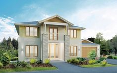 Metricon Home Designs: The Trentham - Plantation Facade. Visit www.localbuilders.com.au/builders_nsw.htm to find your ideal home design in New South Wales