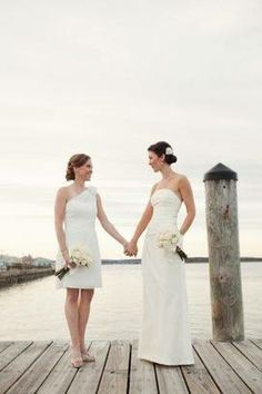 10 Best Two Bridal Gowns Images Lesbian Wedding Two Brides