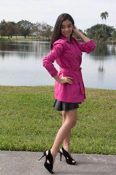 Michael Kors pink trench coat stylishlyinlove.blogspot.com