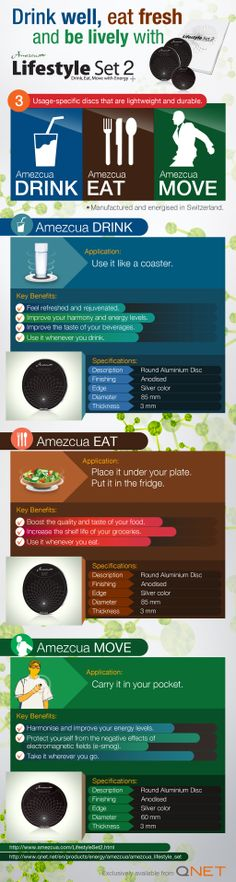 #INFOGRAPHIC: #Amezcua Lifestyle Set 2, Three Discs That Will Harmonise and Energise Your Whole Life