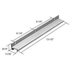 """Casement Window Operator Channel Guide - 13-1/2 in long, Aluminum by C.R. Laurence. $4.69. For Wood Casement Windows The Casement Operator Replacement Track is extruded aluminum and attaches to wood or windows. The channel accepts the guide roller on the end of the operator arm to accommodate the opening and closing of the window. Use with """"5000"""" series and """"H"""" series operators. Minimum Order: 1 Package Additional Product Information: Each package contains one track with mou..."""
