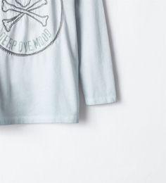 ZARA - COLLECTION AH14 - T-shirt tête-de-mort brodée