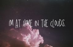 At home in the clouds