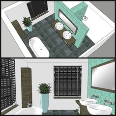 home office design Hidden shower and toulet Modern Bathroom, Small Bathroom, Master Bathroom, Attic Bathroom, Bathroom Renos, Laundry In Bathroom, Bad Inspiration, Bathroom Inspiration, Bathroom Inspo