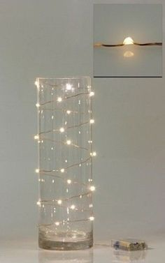Fairy lights! This and the mason jar idea are TOTALLY do-able