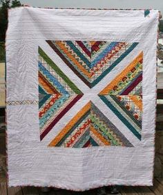 This simple, fun, and free quilt pattern was made available as part of the 2012 100 Quilts for Kids Charity Quilt drive. This is definitely a beginner friendly quilt, and is available as a baby or throw size quilt. The quilt can easily be made with scraps or assorted fat quarters and half yards, prints or solids, or a mix of both.
