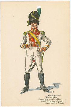 """Sergente maggiore del 1 rgt. """"Vélites """" della guardia reale"""