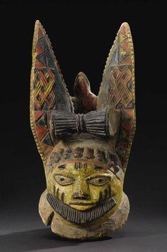 Yoruba Egungun Eleti Elephant Headdress, Nigeria http://www.imodara.com/post/105790120694/nigeria-yoruba-egungun-ancestor-headdress