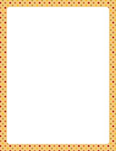 Printable fall polka dog border. Free GIF, JPG, PDF, and PNG downloads at http://pageborders.org/download/fall-polka-dot-border/. EPS and AI versions are also available.