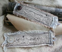 two Poetry Fabric Cuffs.