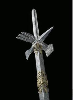 Hache de combat avec lance aux armes des princes électeurs et rois de Saxe