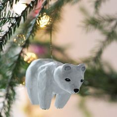 Christmas animal ornaments in clay