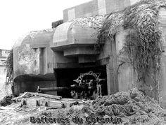 Cherbourg , Darse des Mielles Wn 213 Gare Maritime M.K.B.Seebahnhoff Casemate type Regelbau 650 75 mm Flak x2 20 mm Flak x2