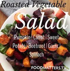 Warm roasted vegetable salad, the perfect side to any meal. Simply drizzle with a little olive oil and balsamic vinegar and serve. So you may be asking where we get all of our recipe ideas and inspiration from? Well the answer is simple and it's right here at at fmtv_official www.fmtv.com