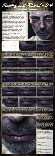 Lips Tutorial V4 (Male Lips) by Packwood.deviantart.com on @DeviantArt