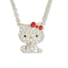 J-Plus: Hello Kitty Hello Kitty glittery pave pendant necklace Kitty-Chan accessories gifts gift Christmas wrapping - Purchase now to accumulate reedemable points! Hello Kitty Jewelry, Hello Kitty Items, Cat Necklace, Pendant Necklace, Christmas Wrapping, Christmas Gifts, Awesome Stuff, Cute Cats, Jewerly