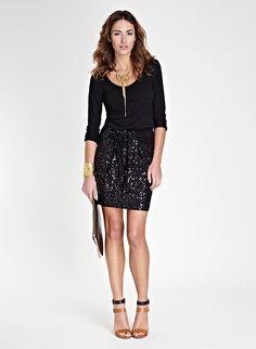 Kate Sequin Skirt   Skirt   Baukjen  #holidaystyle12