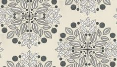 Kaleidoscope (MISP1092) - MissPrint Wallpapers - A large scale, contemporary floral motif design with line sketch detailing. Shown in the Merino colourway - various shades of grey and black on a soft neutral background. Other colourways available. Please request a sample for a true colour match.