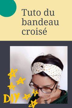 [DIY] O tutorial da faixa cross hair - Miss Farfalle Turban Headbands, Diy Headband, Elastic Headbands, Coin Couture, Couture Sewing, Bandanas, Crochet Hair Styles, Fukushima, Diy Hairstyles