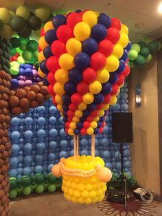 3D hot air balloon sculpture!
