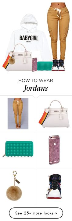 """20. Babygirl"" by mamiina on Polyvore featuring VFiles, Christian Louboutin, Hermès, women's clothing, women, female, woman, misses and juniors"