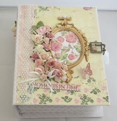 Handmade Scrapbook, Photo Album Scrapbooking, Book Pages, Our Love, Photo Book, Delicate, Bows, Etsy, Flowers