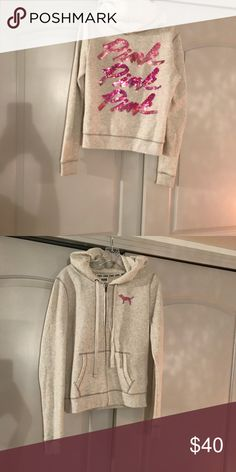 18b9425dd0 Victoria s Secret PINK hoodie Sequin Victoria Secret PINK jacket size  medium worn once. Hand washed