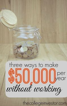 What would you do if you didn't have to work 40 hours per week? If you front load your life and build passive income now that could become a reality. thecollegeinvesto... investing basics, how to invest #personalfinance