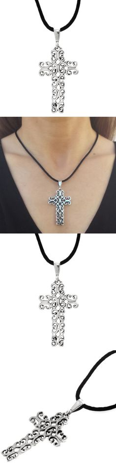 Necklaces and Pendants 98491: Taxco Vintage Style 925 Cross Pendant | Mexico Sterling Silver Jewelry -> BUY IT NOW ONLY: $39.95 on eBay!