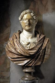 Portrait of Hadrian on a modern bust / Hall of frescoes / Palazzo Clementino Caffarelli / Through the rooms - Musei Capitolini