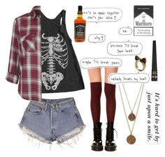 """""""effy stonem"""" by emiliaxavier ❤ liked on Polyvore featuring American Apparel, Levi's, K. Bell, Call Of The Wild, Bee Charming, Barry M, Topshop, skins and effystonem"""