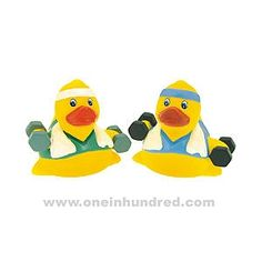 I Work Out! rubber duckies