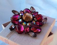 HUGE Vintage Brooch EXQUISITE Round Swirl by RuthiesThisandThat, $40.00