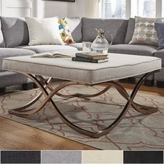 Shop for Solene X Base Square Ottoman Coffee Table - Champagne Gold by iNSPIRE Q Bold. Get free shipping at Overstock.com - Your Online Furniture Outlet Store! Get 5% in rewards with Club O! - 20158214