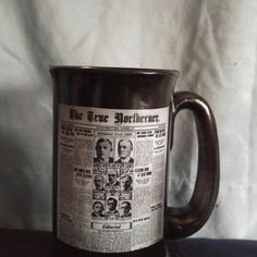 Hand painted History Buff Beer Mug decoupaged with a news article from the Civil War era.