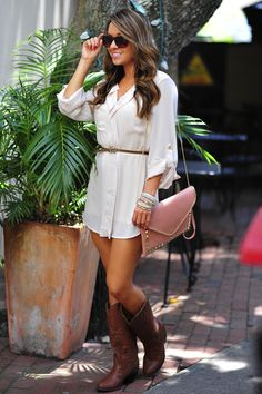 Belted In Envy Tunic: Ivory