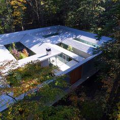 "5,407 Likes, 17 Comments - Dezeen (@dezeen) on Instagram: ""Architects Megumi Matsubara and Hiroi Ariyama arranged this house in the forest near Karuizawa…"""