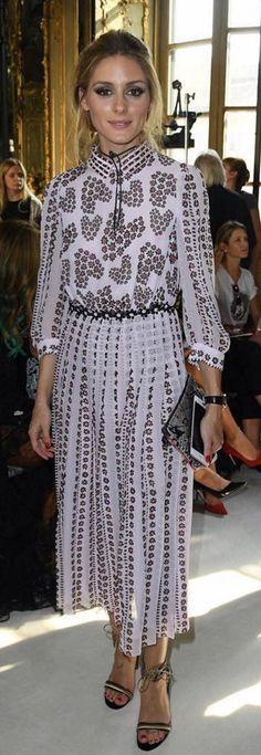 Olivia Palermo: Shoes -Gianvito Rossi Dress – Giamba Purse – Meli